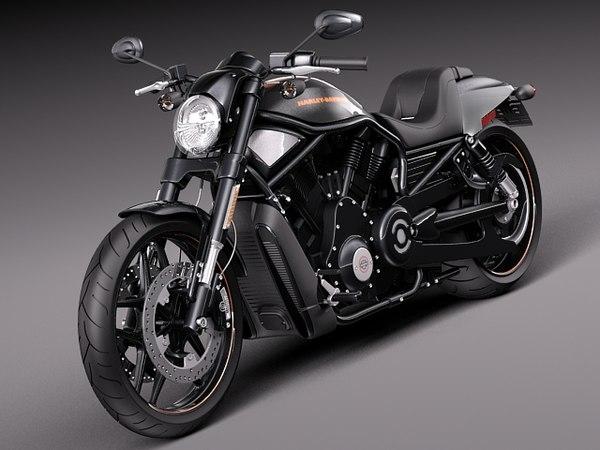 Harley-Davidson V-rod Night Rod Special 2013 3D Models