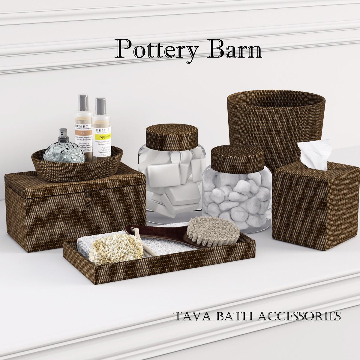 3d Model Pottery Barn Tava Bath