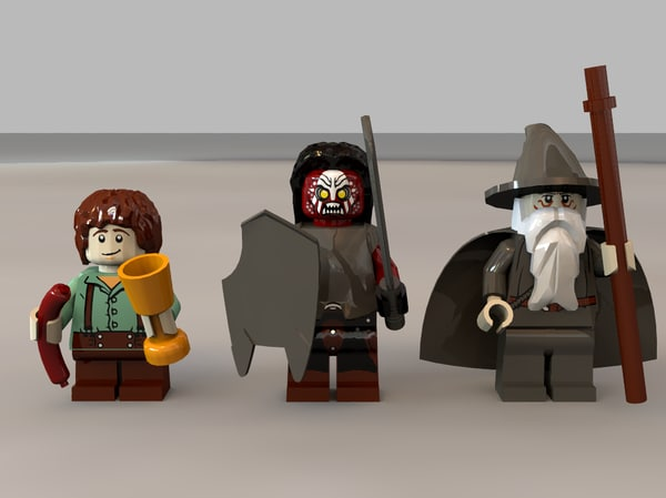 Lego Lord of the Rings Minifigures Collection 3D Models