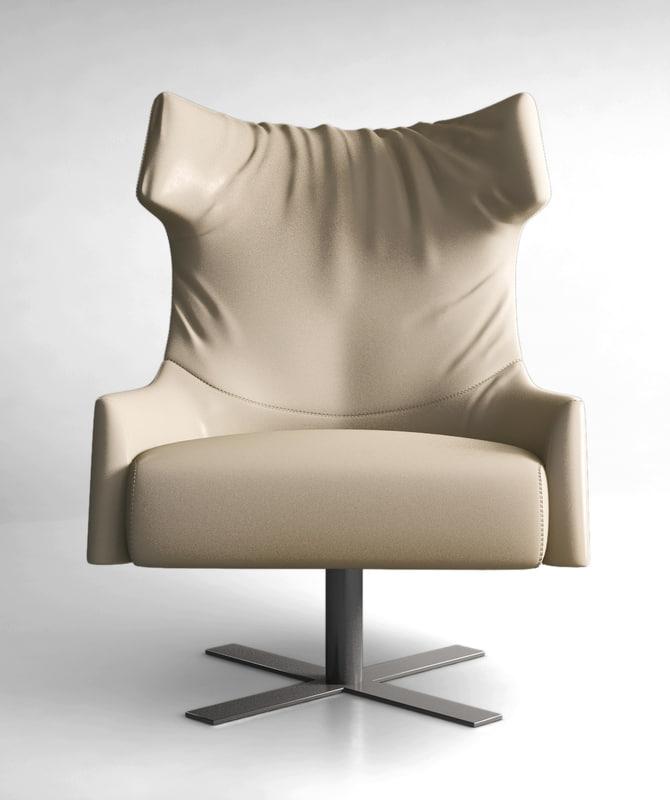 Busnelli Grace swivel armchair