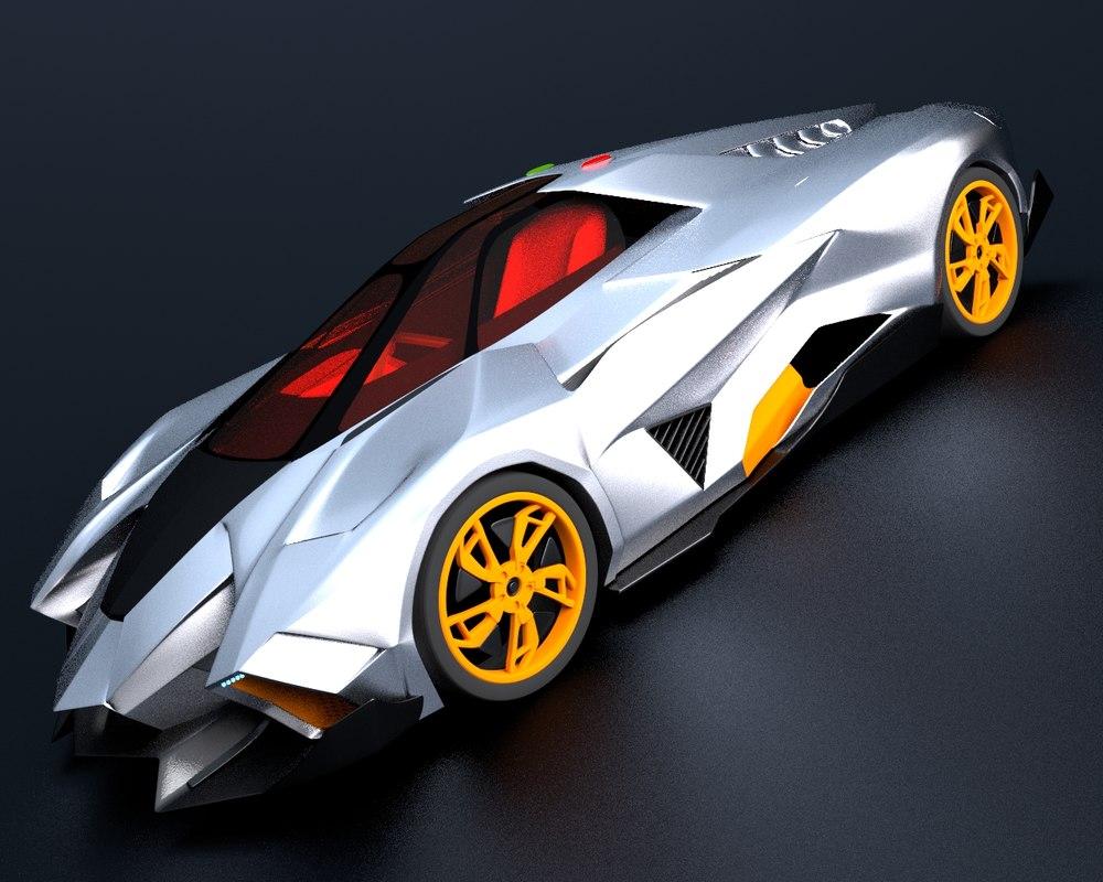 3d lamborghini egoista sport concept car. Black Bedroom Furniture Sets. Home Design Ideas