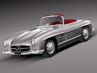 Mercedes 300SL Gullwing 3D models