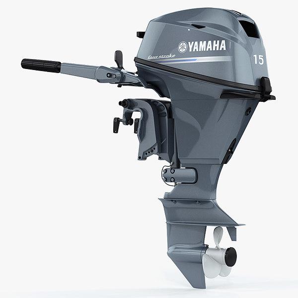 Yamaha F15 portable outboard engine