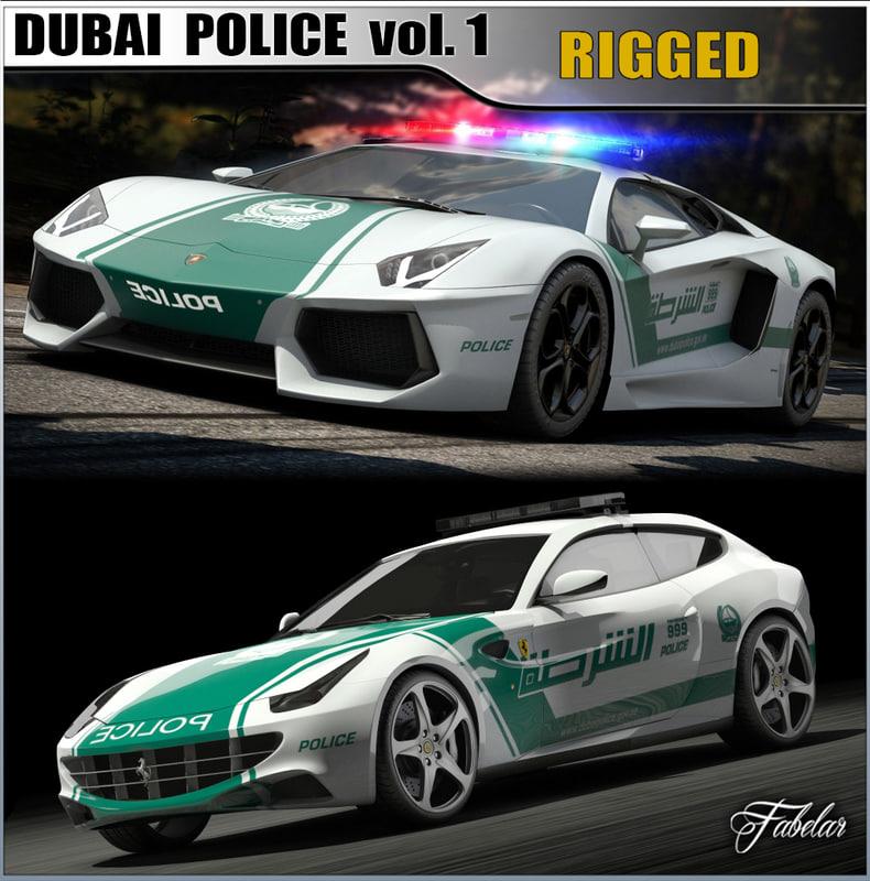 Dubai Police Cars 1 Obj