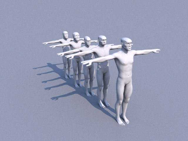 3d human evolution graph model