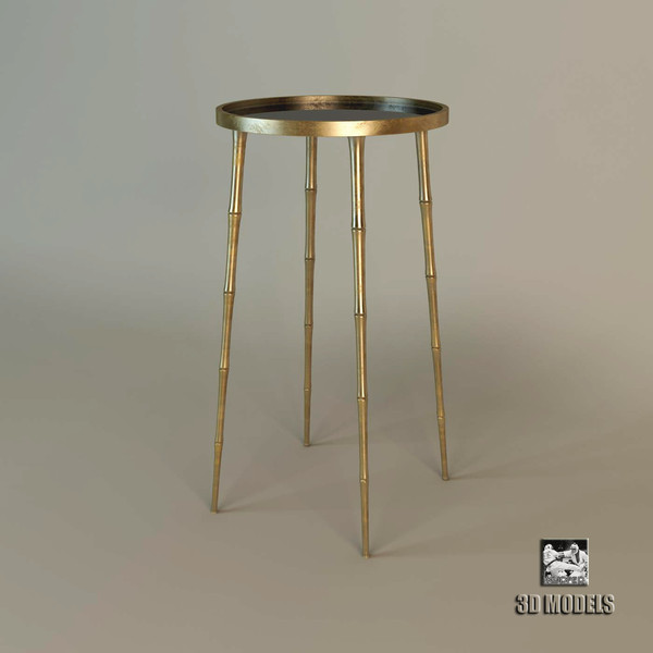 Barbara Barry Coco Accent Table 3D Models