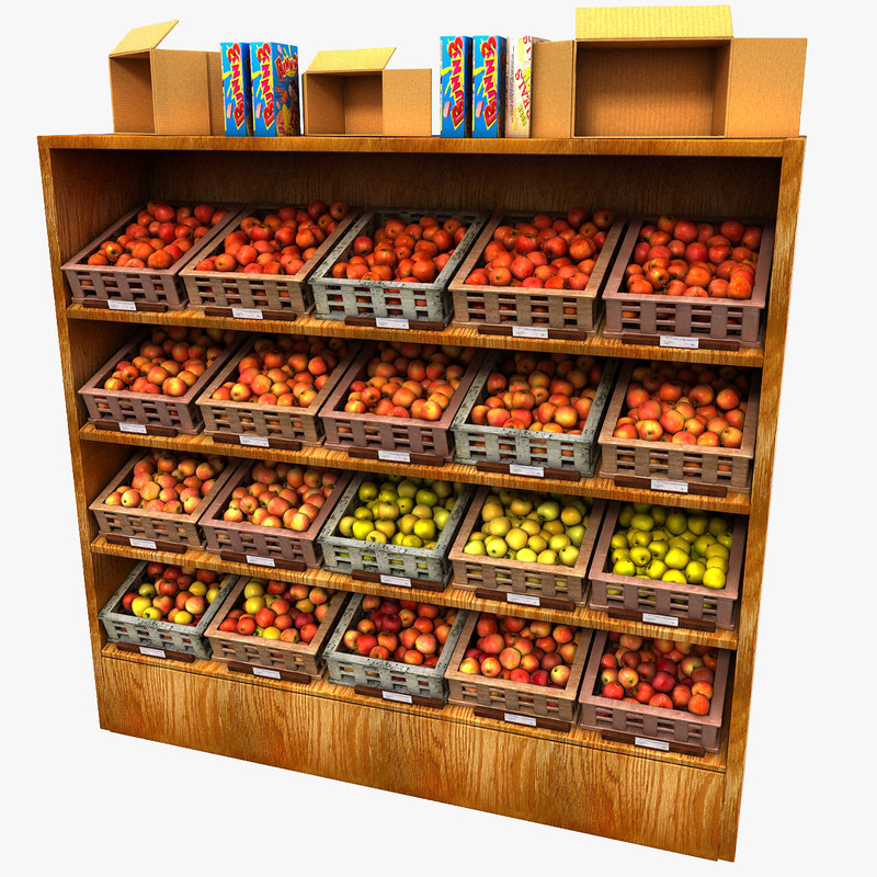 Store Fruit Stand Apple Display