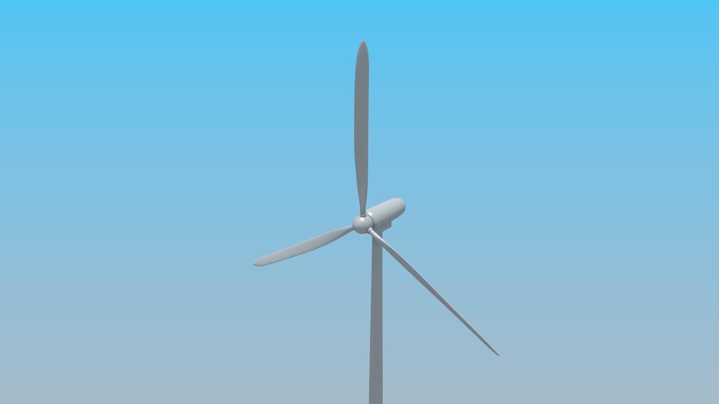 Animated wind turbine