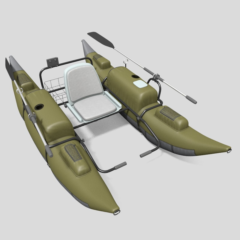 3d model inflatable pontoon boat for Inflatable pontoon fishing boat