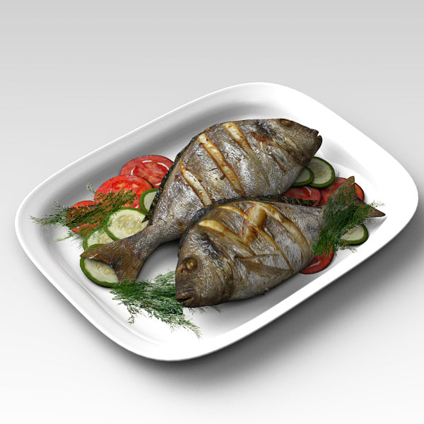 Fish Fried 3D Models