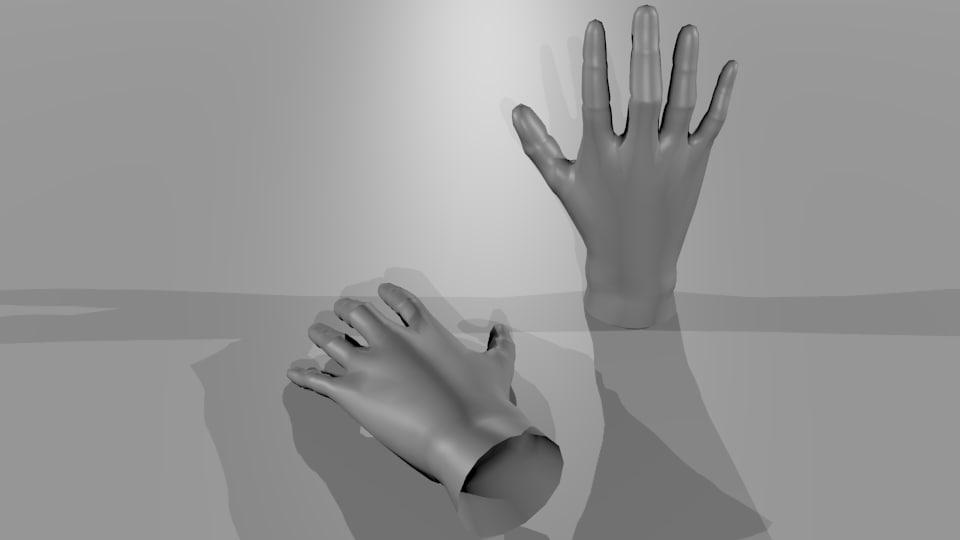 human-Hands male basemesh
