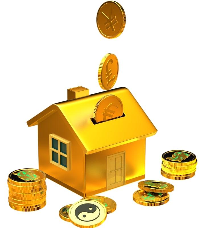 house piggy bank 3d model