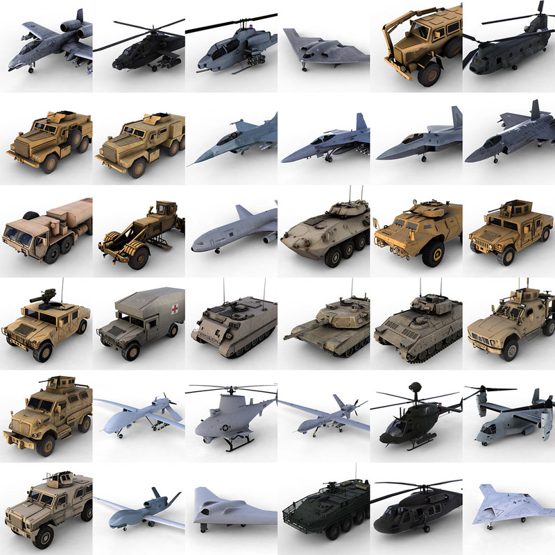 US Army Vehicles Mega Collection