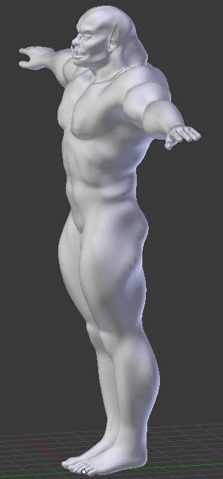 Orc Male Base Model