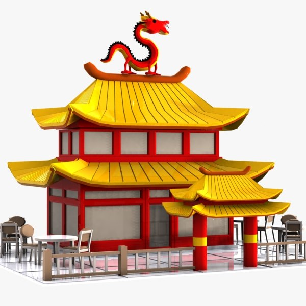 Chines Restaurant: Car Chinese Restaurant Obj