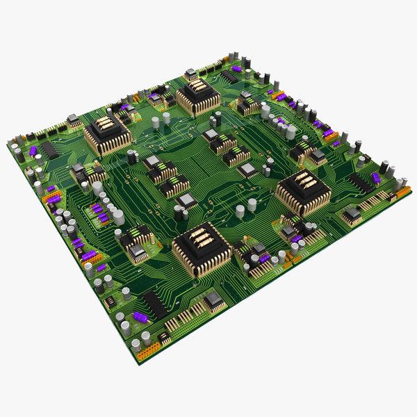 Big Circuit Board City 3D Models