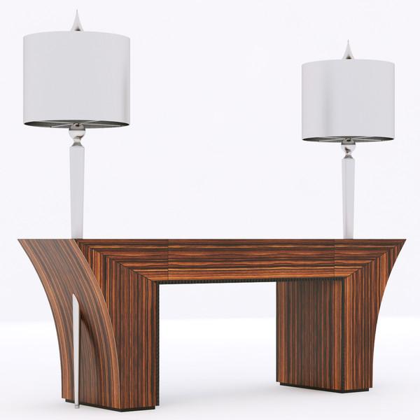 Francesco Molon N503 console ELECTRA BIS with lamps 3D Models