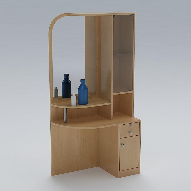 3d dressing table model for Table design 3d model
