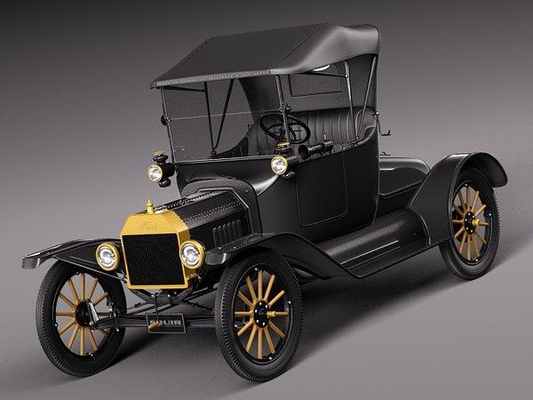 Ford Model T convertible short 1908-1927 3D Models
