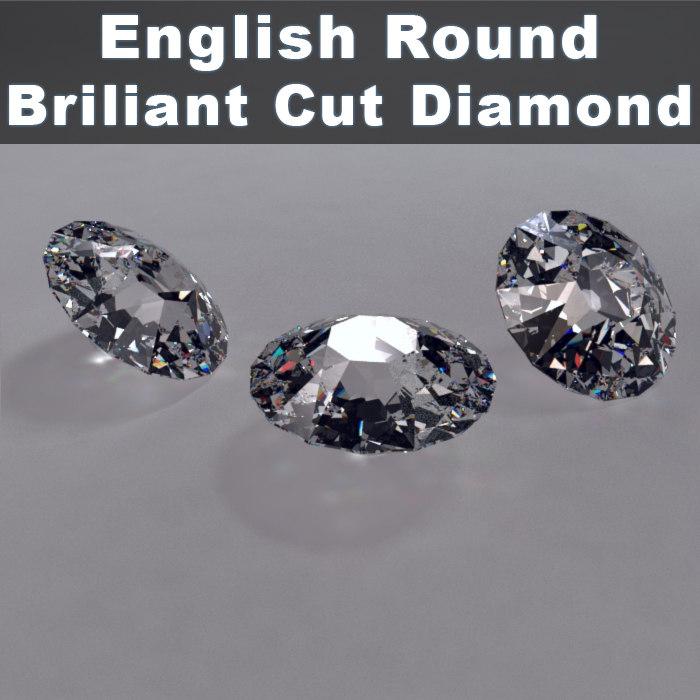 English Round Cut Brillinat Cut Diamond