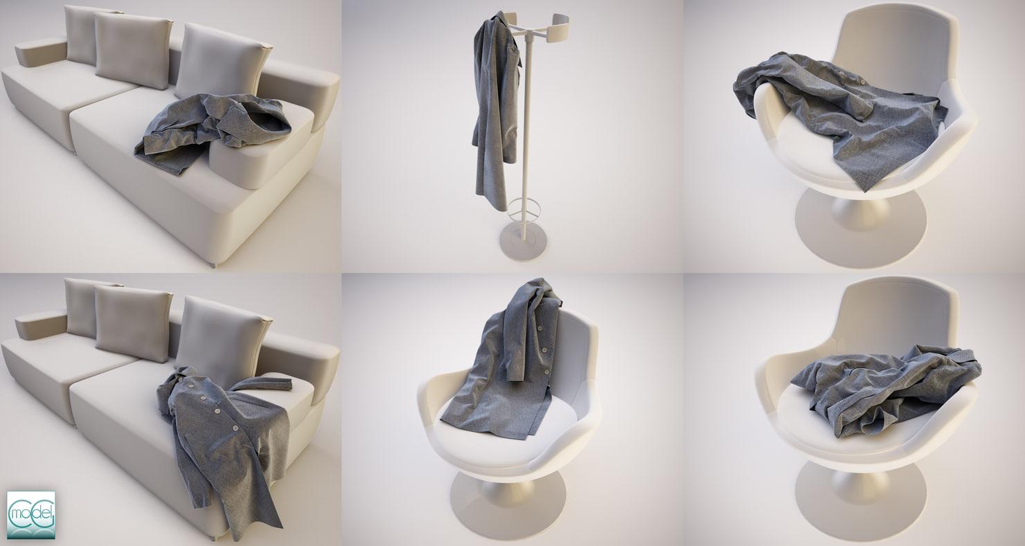 Coat in 6 positions