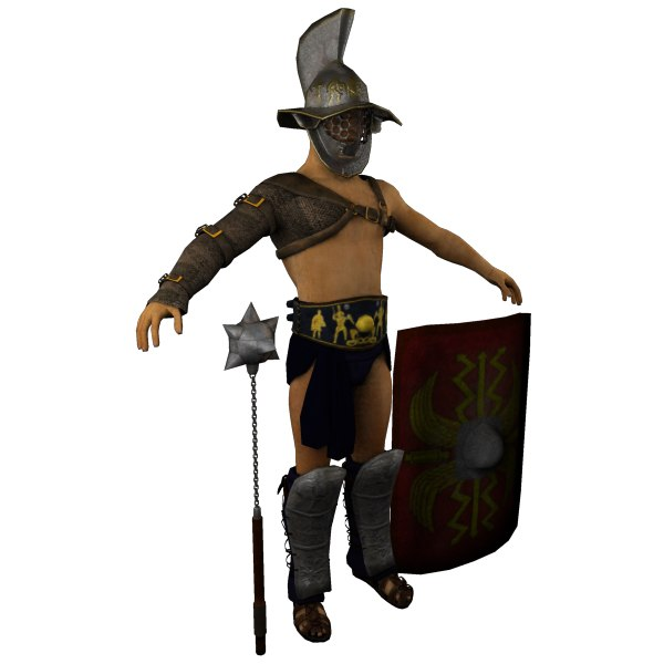 Gladiator Armor Types 3d Model Roman Gladiator Armor
