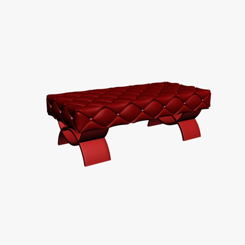 3ds Max Sofa Bench Type