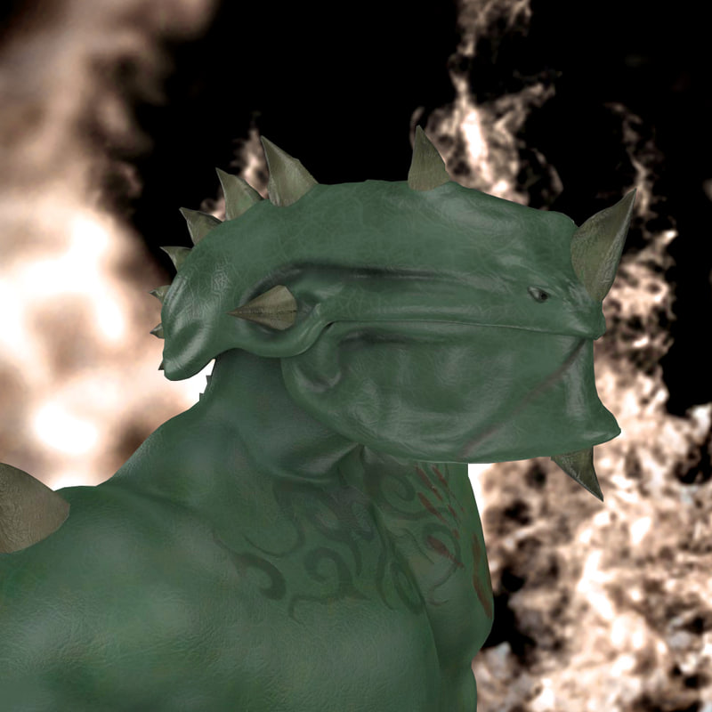 Dragon man rigged mythical creature