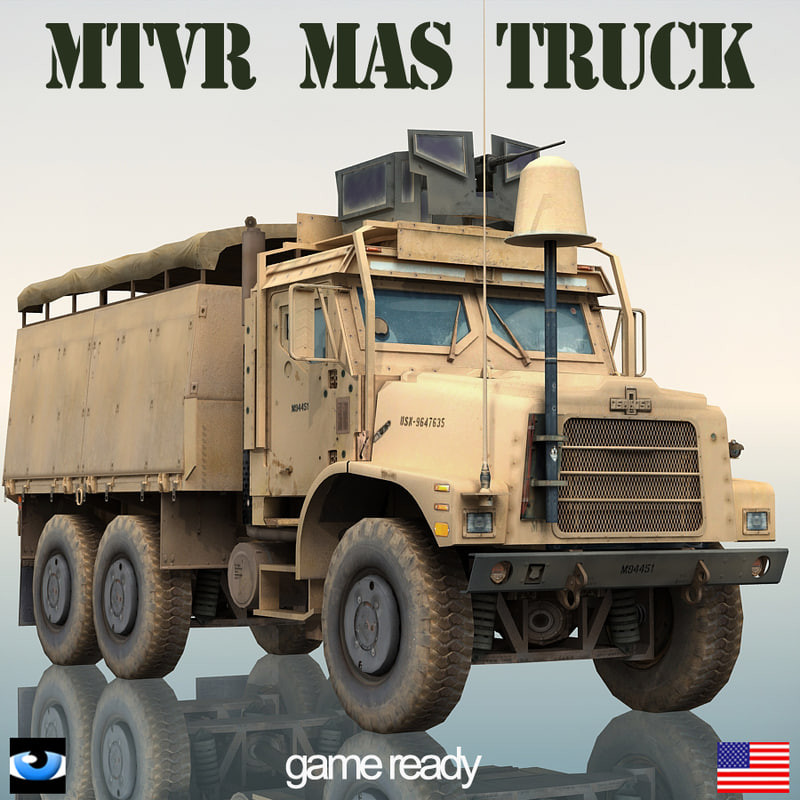 Oshkosh mtvr military truck 3d lwo