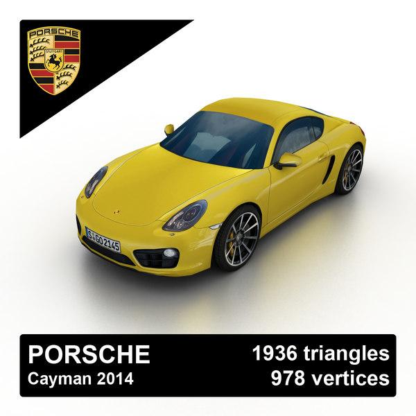 Porsche Cayman 2014 3D Models