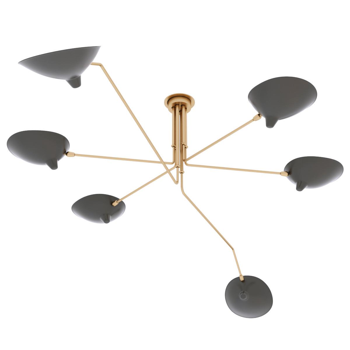 serge mouille ceiling 3d obj. Black Bedroom Furniture Sets. Home Design Ideas