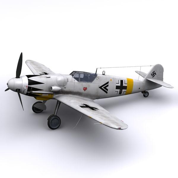 Bf-109 G14 Erich Hartmann, Winter 1945 3D Models
