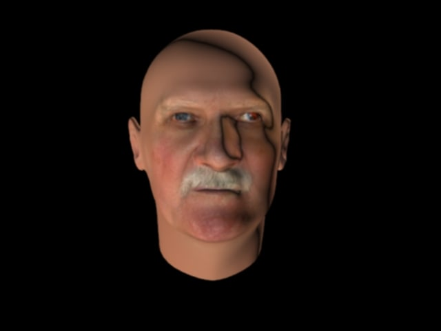 Grumpy old man head with 50 morph poses