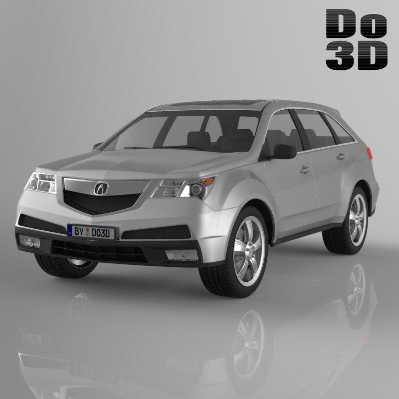 Acura Mdx 2013 3d Model