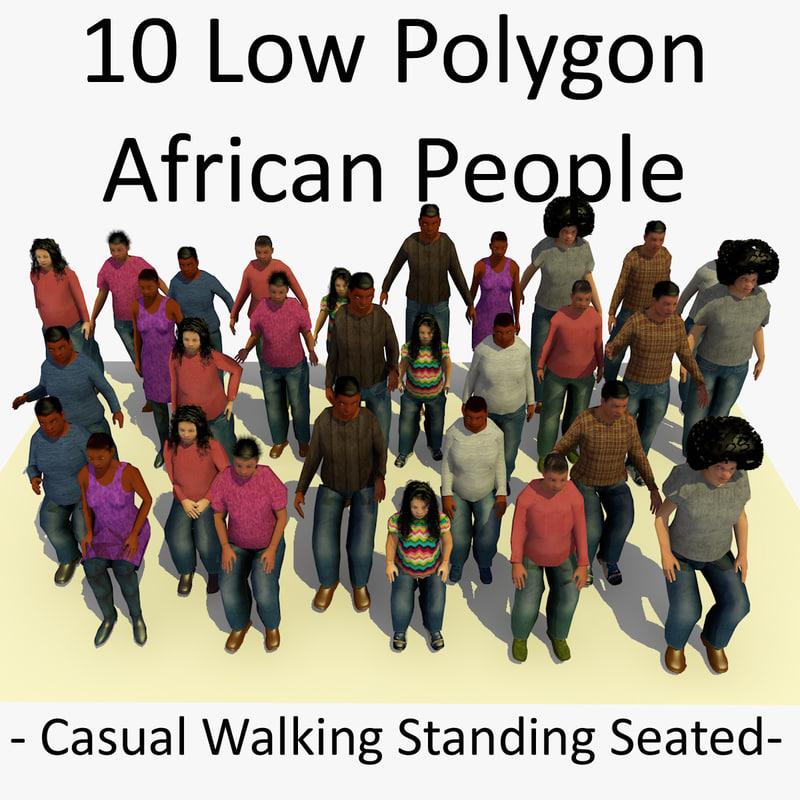 3D African People Bundle