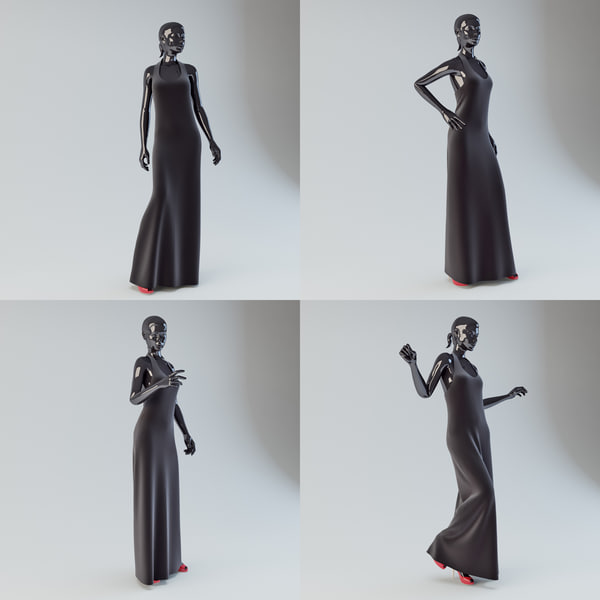 Showroom Mannequin Collection 01 3D Models