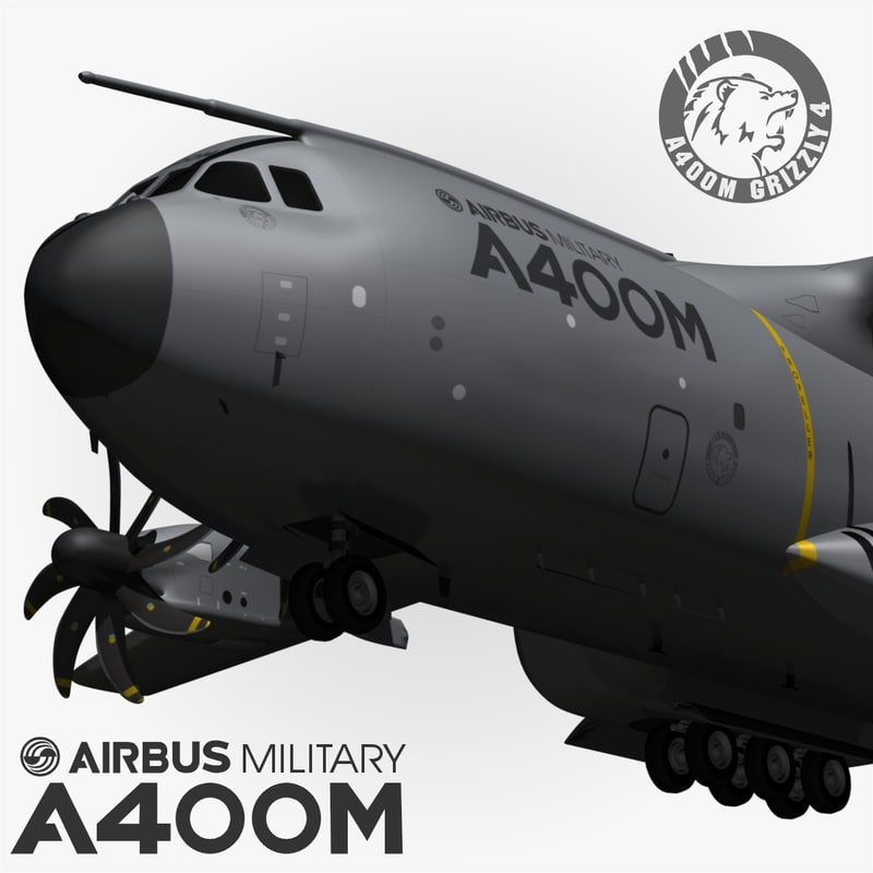 airbus a400m grizzly 3d max
