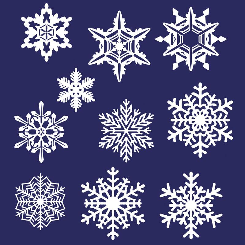 10 Snowflakes