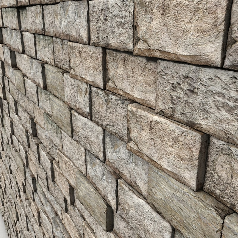 Stone Block Medieval Wall
