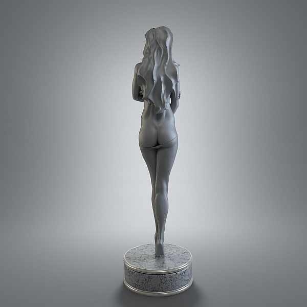 Erotic girl 3D Models