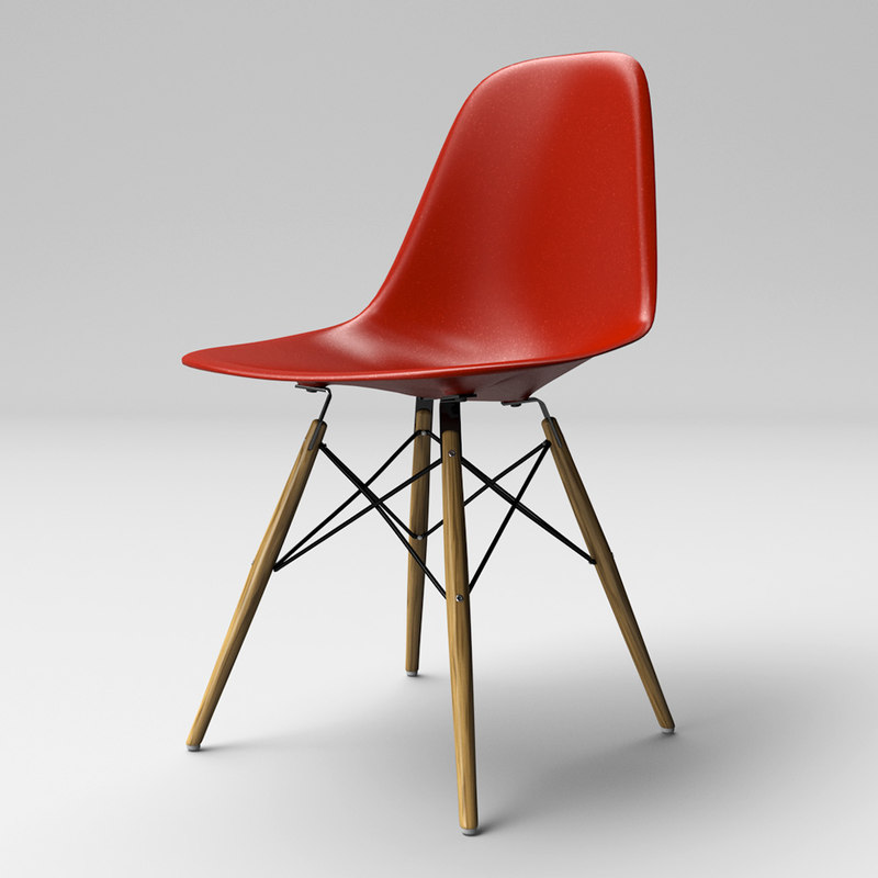 C4d eames molded plastic chair for Chair 3d model maya