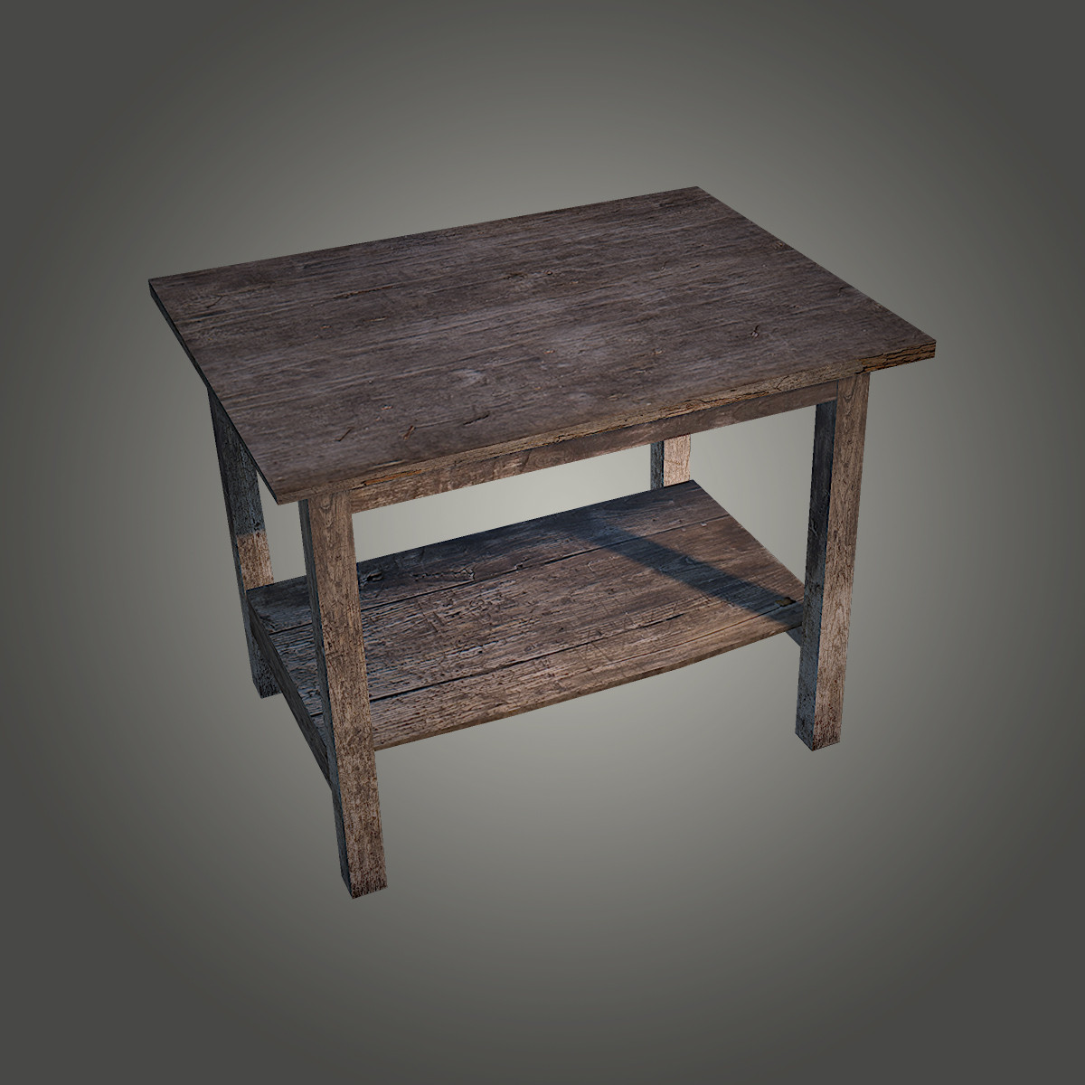 3d model old wooden table for 0co om cca 9 source table