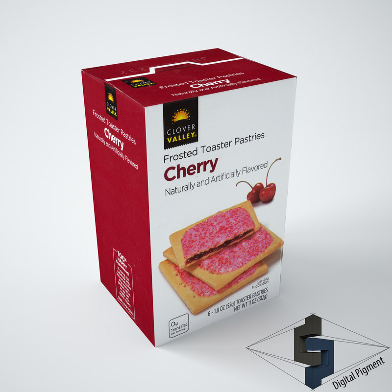 Clover Valley Cherry Frosted Toaster Pastries