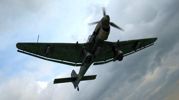 Ju-87 Dive Bomber 3D Models