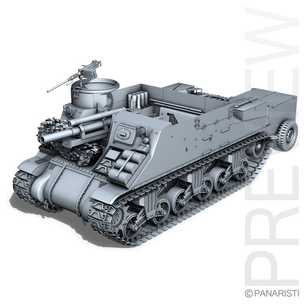 M7 Priest - Howitzer Motor Carriage 3D Models