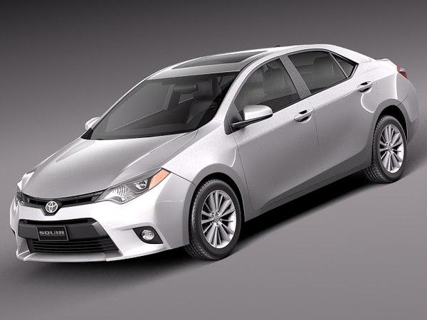 Toyota Corolla LE 2014 USA 3D Models