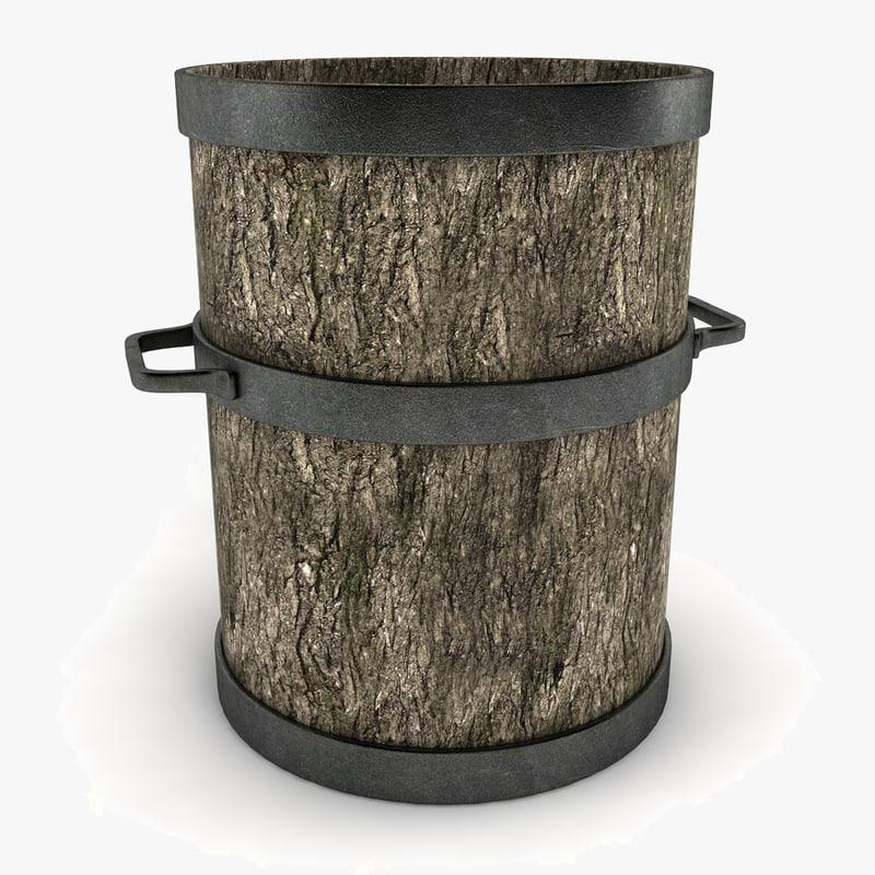 Wooden Pot Decoration