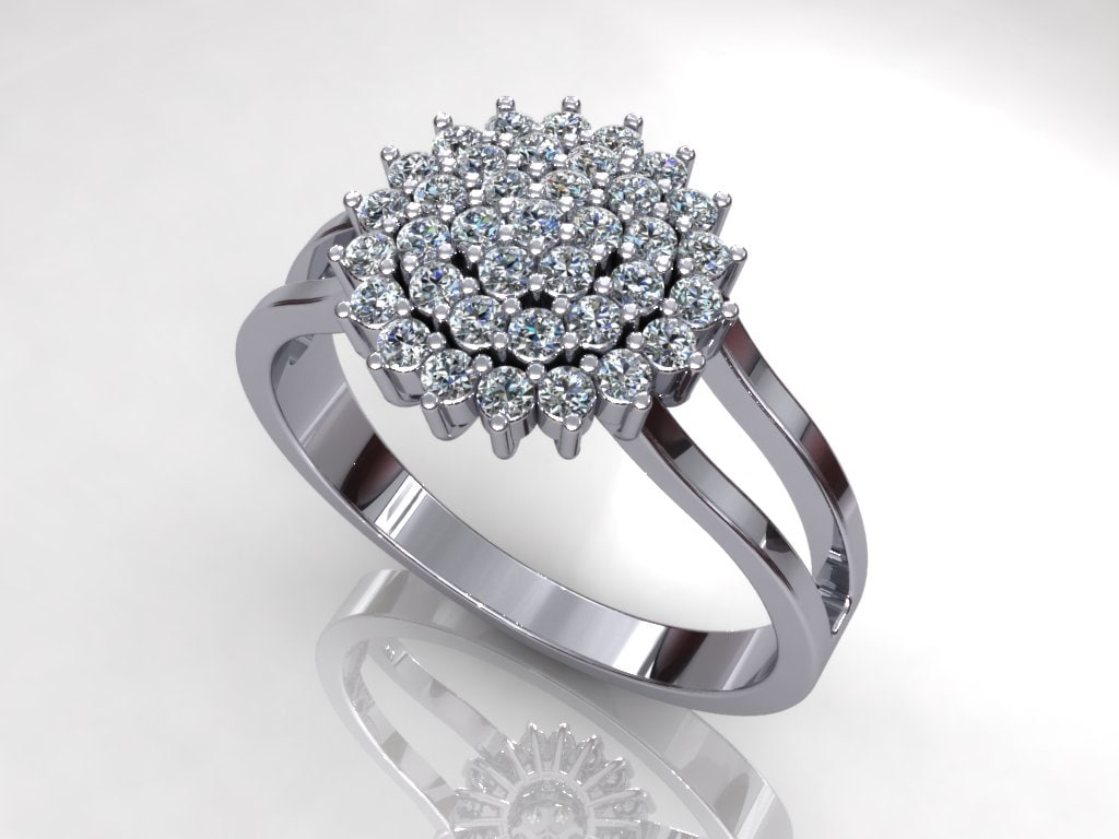 Solitaire Sun flower Ring
