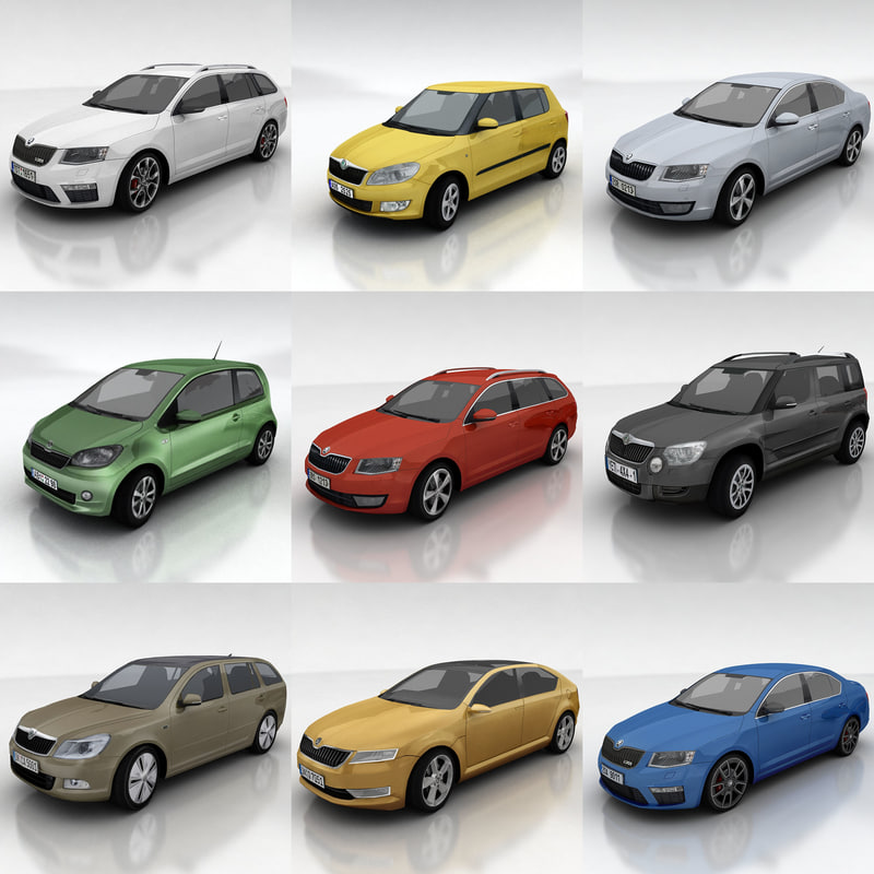 10 - Skoda cars collection