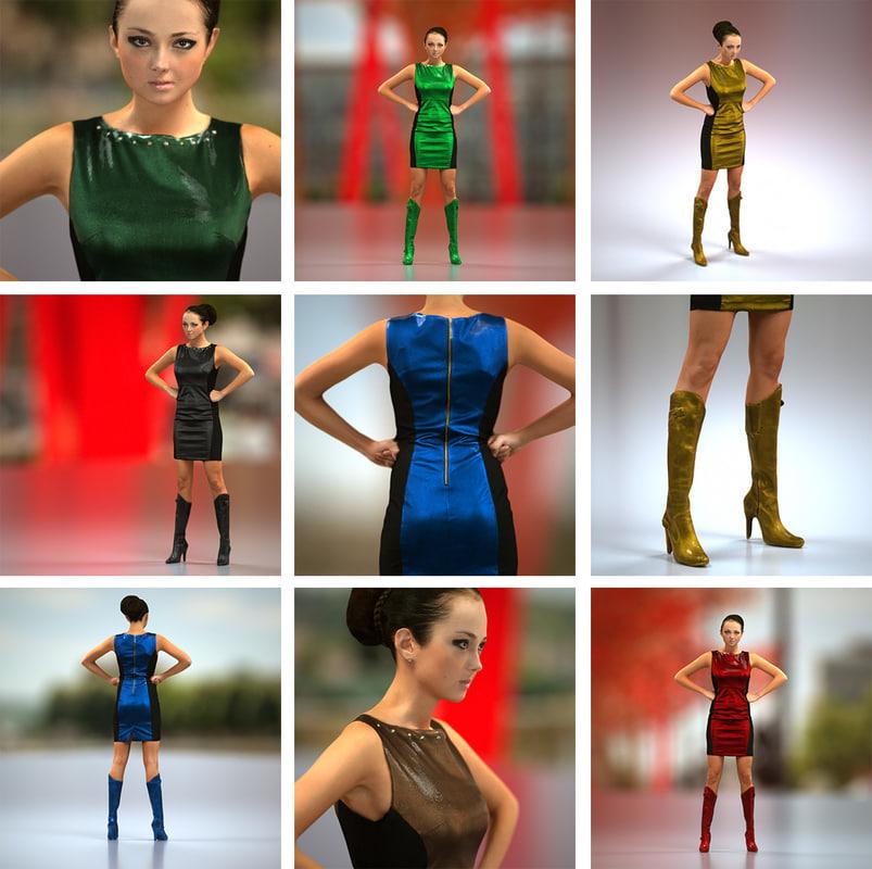 Leather Dress Girl